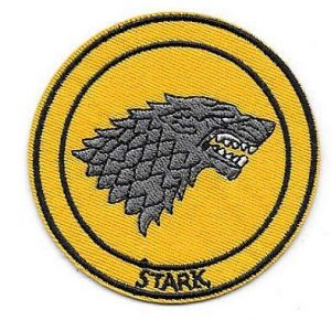 Embroidery Patch Airsoft Morale Patch 2 Game of Thrones House Stark Sigil Morale Military Hook Loop Tactics Morale Embroidered Patch