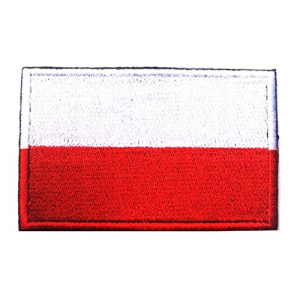 Tactical Embroidery Patch Airsoft Morale Patch 1 Poland Flag Embroidery Patch Military Tactical Morale Patch Badges Emblem Applique Hook Patches for Clothes Backpack Accessories