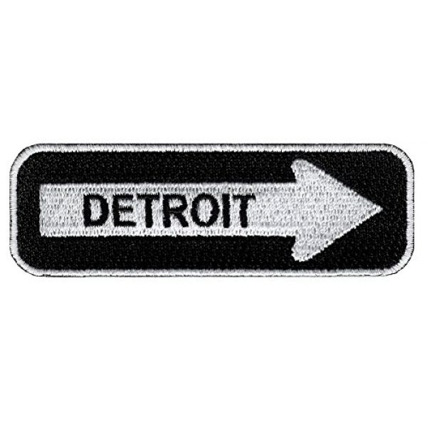 Cypress Collectibles Embroidered Patches Airsoft Morale Patch 1 One Way Sign Detroit Michigan Embroidered Patch Iron-On Road Biker