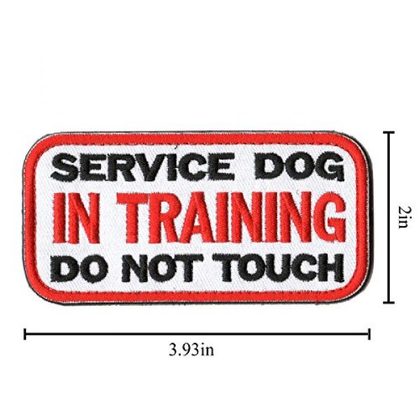 WZT Airsoft Morale Patch 7 WZT 6 Pieces Service Dog Working Do Not Touch Military Tactical Morale Badge Hook & Loop Fastener Patch