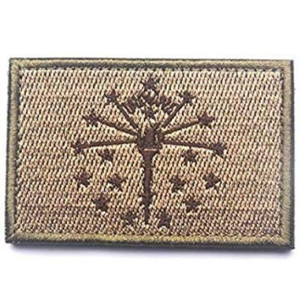 Tactical Embroidery Patch Airsoft Morale Patch 1 State Flag of Indiana Embroidery Patch Military Tactical Morale Patch Badges Emblem Applique Hook Patches for Clothes Backpack Accessories
