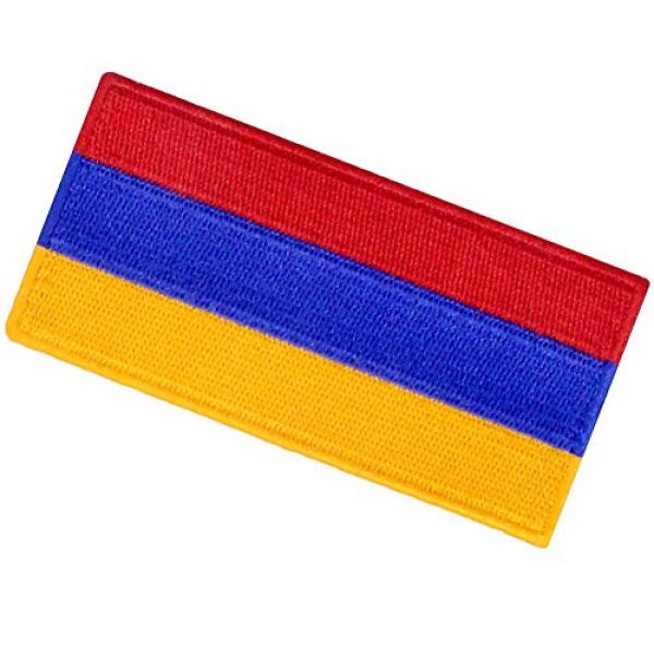 EmbTao Airsoft Morale Patch 4 Armenia Flag Embroidered Patch Armenian Iron On Sew On National Emblem