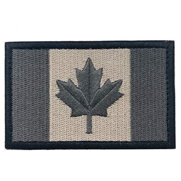 Heyqie Airsoft Morale Patch 2 2 Pieces Canada Flag Patches, Canadian Flag Patch 3.1 X 2.0 Inch Velcro Patches Morale Military Uniform Emblem Patch Iron-on Patch for Tactical Backpacks Bags Clothes Jackets Hats