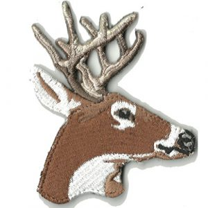 """Gadsden and Culpeper Airsoft Morale Patch 1 3"""" x 3"""" Die-Cut Buck w/Antlers - Tactical Morale Patch"""