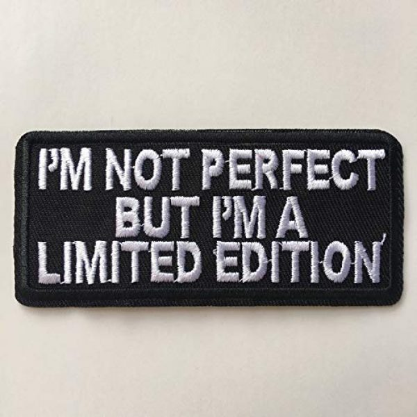 Hng Kiang Hu Airsoft Morale Patch 3 I'm Not Perfect But I'm A Limited Edition Embroidered Iron On Sew On Morale Funny Patch