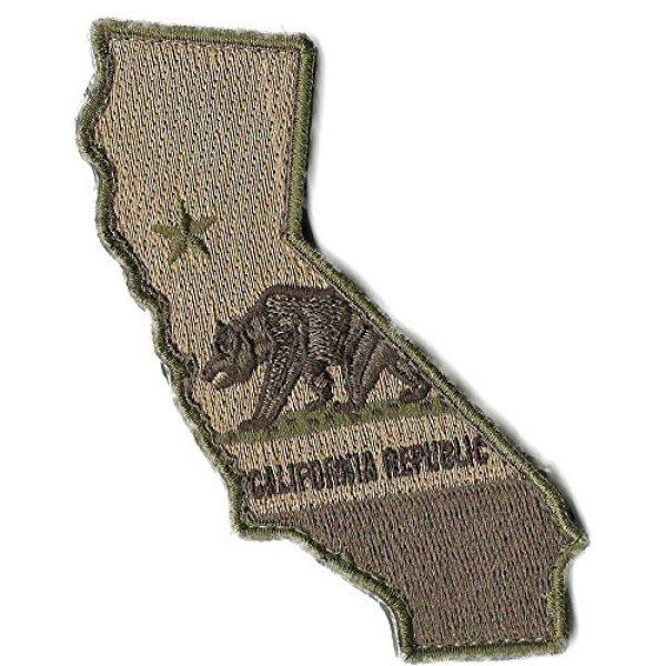 """Gadsden and Culpeper Airsoft Morale Patch 2 Die Cut California State Patch - 1.25"""" x 4.5"""""""