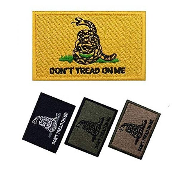 Axe Sickle Airsoft Morale Patch 2 AxeSickle 2x3 Inch Don't Tread on me Embroidered Patch American Flag Patch Tactical Military Morale Patch 4 Pcs.