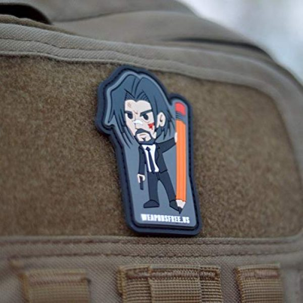 weaponsfree.us Airsoft Morale Patch 2 John Wick Custom Tactical Morale PVC Patch