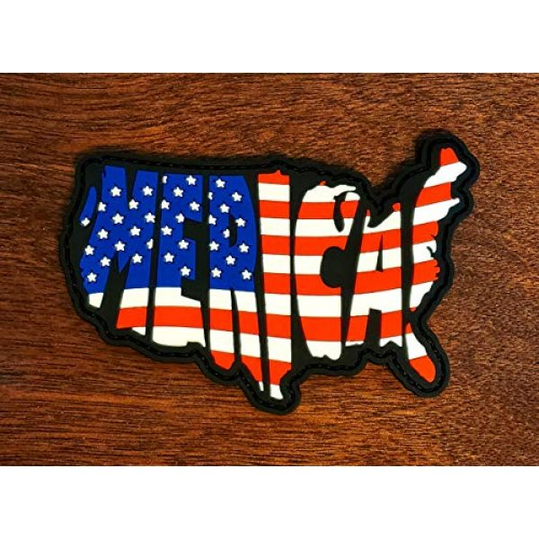 Check Six Patch Works Airsoft Morale Patch 2 'Merica! Morale Patch