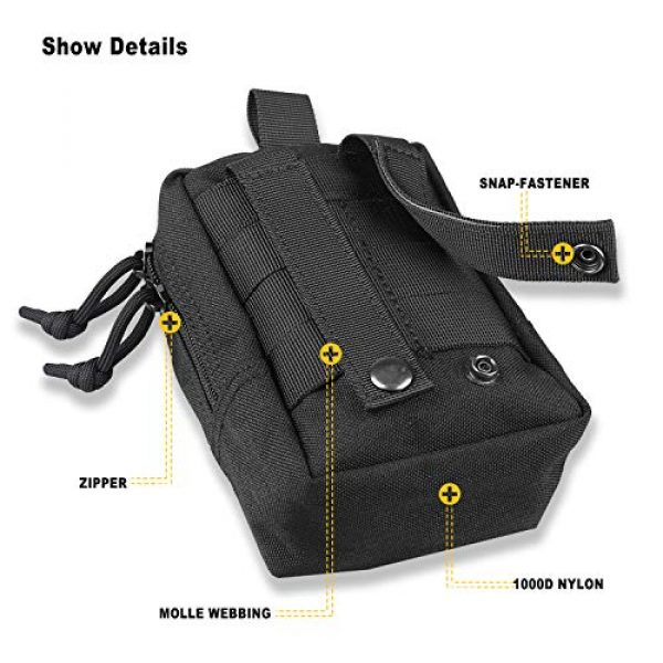 AMYIPO Tactical Pouch 4 AMYIPO MOLLE Pouch Multi-Purpose Compact Tactical Waist Bags Small Utility Pouch