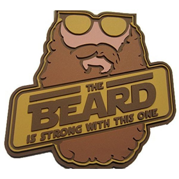 F-Bomb Morale Gear Airsoft Morale Patch 1 The Beard is Strong - PVC Morale Patch