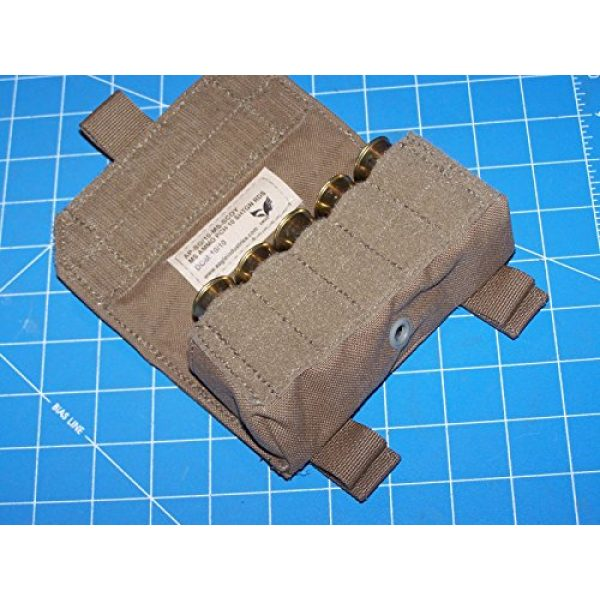 12 Gage Ammo Pouch Tactical Pouch 3 Shotgun 12 Gage Ammo Pouch Military USMC MOLLE FSBE Coyote w P38