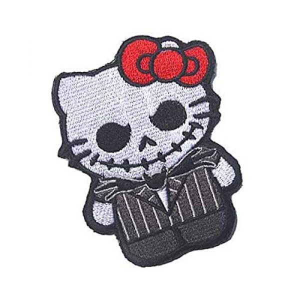 Kseen Airsoft Morale Patch 4 Hello Kitty Embroidered Patches As Jack Nightmare Before Christmas Armband Badge Morale Emblem Military Applique Fastener Decorative Patch