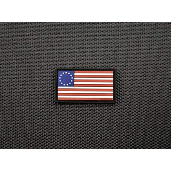 """Empire Tactical USA Airsoft Morale Patch 2 MINI BETSY ROSS FLAG 3D PVC MORALE PATCH 2"""" x 1.25"""""""