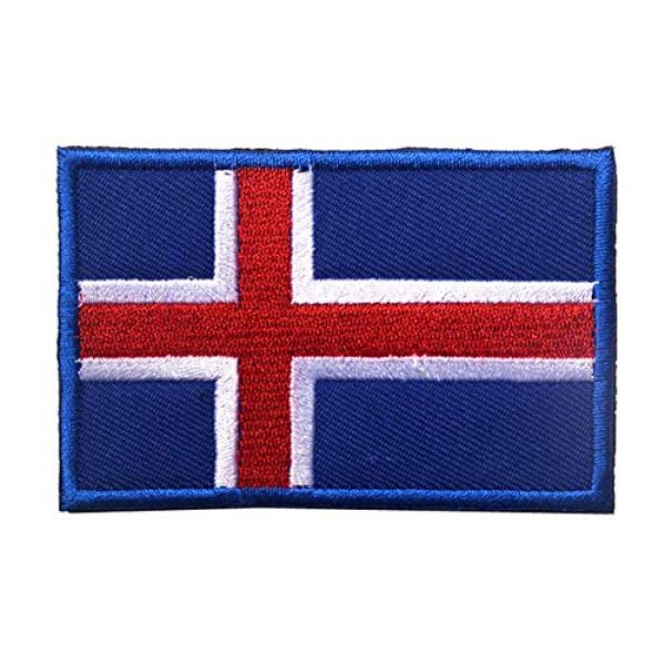 Tactical Embroidery Patch Airsoft Morale Patch 2 2pcs Iceland Flag Embroidery Patch Military Tactical Morale Patch Badges Emblem Applique Hook Patches for Clothes Backpack Accessories