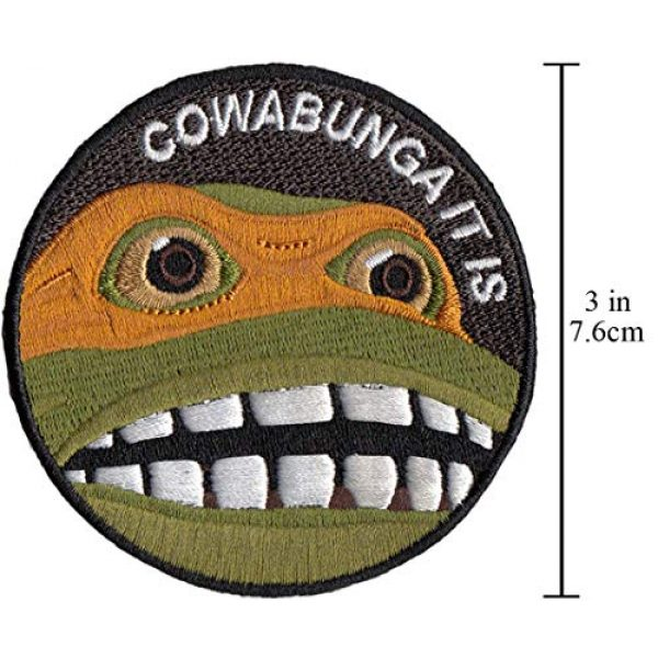 CowaBunga Airsoft Morale Patch 3 Cowabunga It is Embroidered Hook-Backed Morale Patch, Embroidered Patch Sew on Appliques Decorate Badge Hook-Backed Morale Patches Emblem DIY Accessories 3 Inch