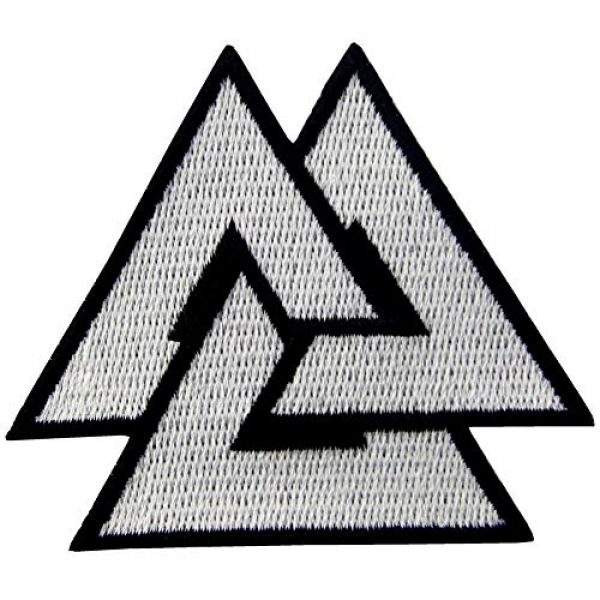 EmbTao Airsoft Morale Patch 3 EmbTao Glow in Dark Valknut Triangle Symbol Viking Norse Rune Morale Tactical Iron On Sew On Patch