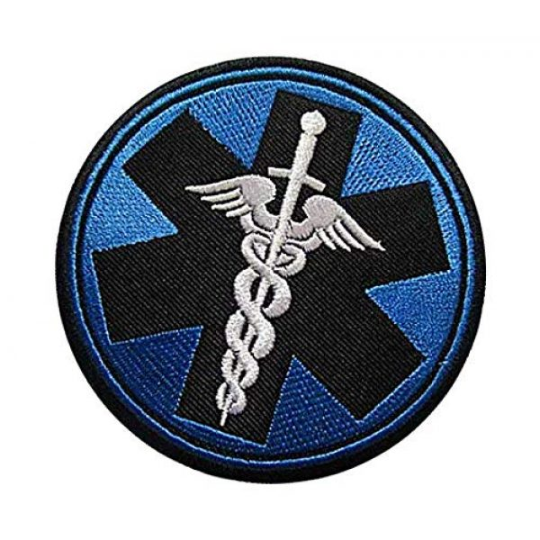 Embroidery Patch Airsoft Morale Patch 3 Medic Corpsman Caduceus Military Hook Loop Tactics Morale Embroidered Patch