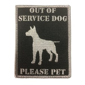 F-Bomb Morale Gear Airsoft Morale Patch 1 Out of Service Dog - Embroidered Morale Patch