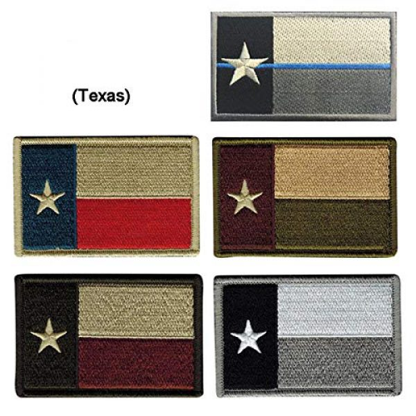 June Sports Airsoft Morale Patch 4 Texas State Flag Embroidered Patch Sew-On TX Lone Star Emblem ABG77