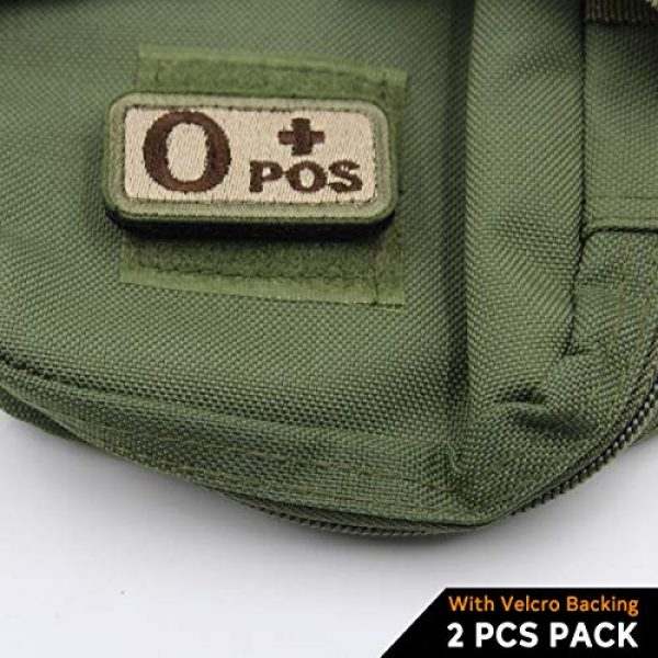 """EJG Airsoft Morale Patch 2 EJG 2-Piece Tactical Blood Type Velcro Patch, Various Styles in Embroidery & PVC, O+ O- Positive Negative, 2""""x1"""" Military Medic Navy Army Morale Patch for Tactical Gear Battle Uniform (Style 03)"""
