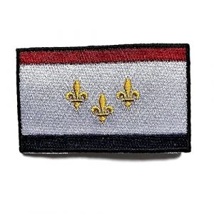 """Backwoods Barnaby Airsoft Morale Patch 1 City of New Orleans Flag Patch/Cities of Louisiana Morale Patch Collection (Nola LA, 2"""" x 3"""")"""