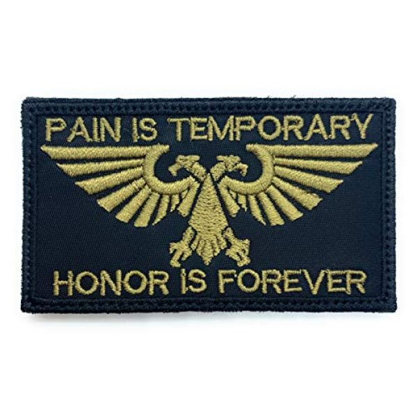 Almost SGT Airsoft Morale Patch 1 Warhammer 40K Aquila Pain is Temporary Honor is Forever - Funny Tactical Military Morale Embroidered Patch Hook Backing