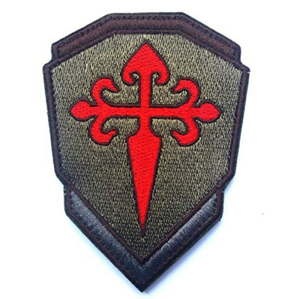 Embroidered Patch Airsoft Morale Patch 1 Santiago James Cross 3D Tactical Patch Military Embroidered Morale Tags Badge Embroidered Patch DIY Applique Shoulder Patch Embroidery Gift Patch