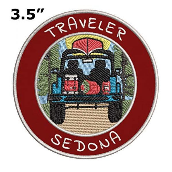 Appalachian Spirit Airsoft Morale Patch 2 Traveler! Sedona Embroidered Premium Patch DIY Iron-on or Sew-on Decorative Badge Emblem Vacation Souvenir Travel Gear Clothes Appliques Wildlife Explore Nature