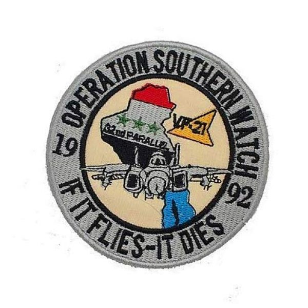 Embroidery Patch Airsoft Morale Patch 3 Operation Southern Watch VF-21 If It Flies-It Dies Military Hook Loop Tactics Morale Embroidered Patch