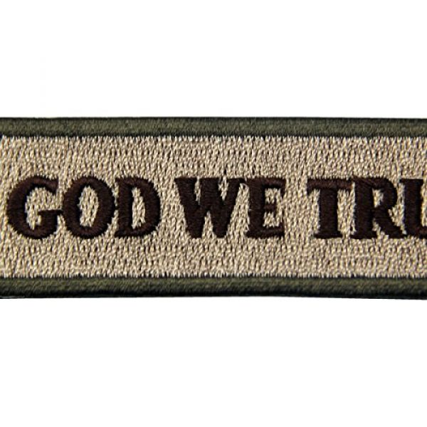 EmbTao Airsoft Morale Patch 2 EmbTao in GOD We Trust Embroidered Tactical Morale Iron On Sew On Patch - Multitan