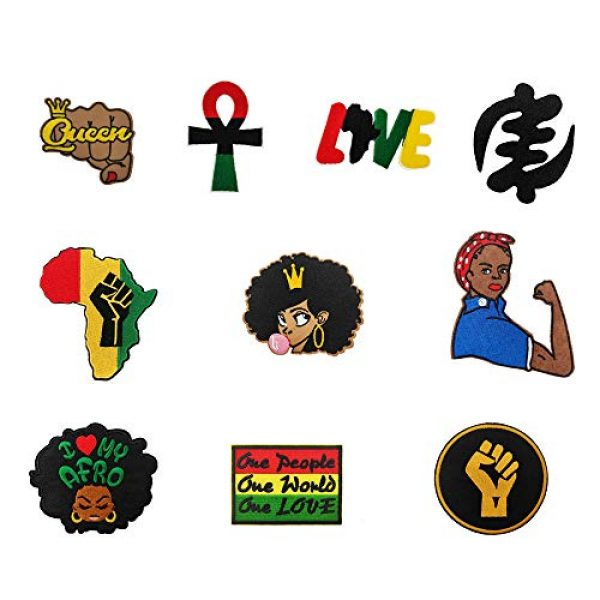 Cute-Patch Airsoft Morale Patch 1 Fist Up Black Lives Matter Iron on Patches Hat Pin BLM