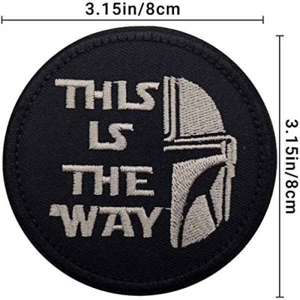 APBVIHL Airsoft Morale Patch 2 This is The Way Mandalorian Morale Patch, Fastener Hook and Loop Backing Tactical Military Embroidered Fabric Patches for Clothes Hat Backpack, 3.15 Inch, Bundle 2 Pieces