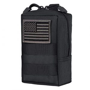 IronSeals Tactical Pouch 1 IronSeals Tactical Molle Pouch Multi-Purpose Compact Pack Water-Resistant Utility EDC Pouch with Flag Patch