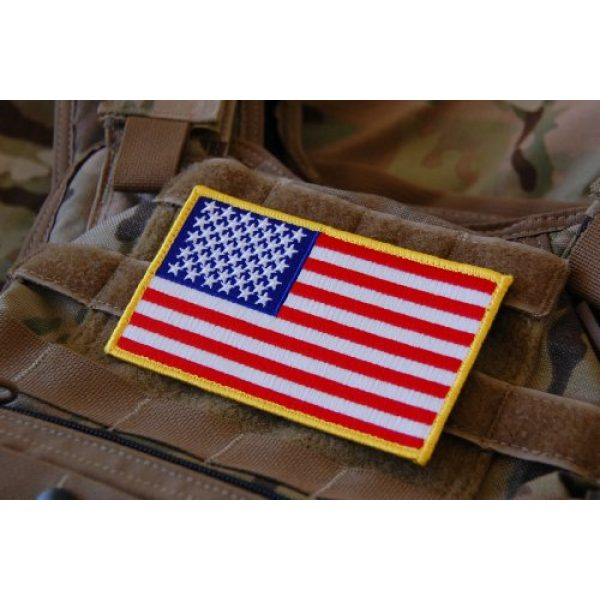 Empire Tactical USA Airsoft Morale Patch 1 Large 3x5 Inch Color Tactical Us USA Flag (Hook/Loop) Patch