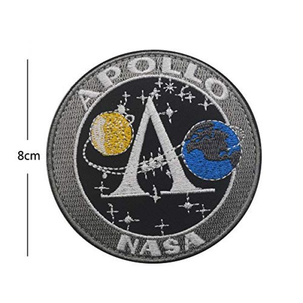 Zhikang68 Airsoft Morale Patch 7 18 PCS NASA Apollo Mission Patch Set 1,7,8,9,10,11,12,13,14,15,16,17,133,134,135 Space Patches 60th Annivers Embroidered Costume Applique Sew On Motorcycle Emblem for Travel Backpack Hats Jackets
