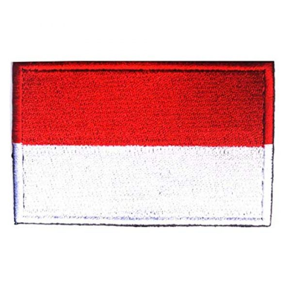 Tactical Embroidery Patch Airsoft Morale Patch 1 Indonesia Flag Embroidery Patch Military Tactical Morale Patch Badges Emblem Applique Hook Patches for Clothes Backpack Accessories
