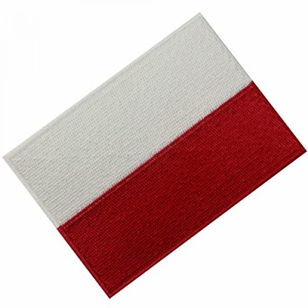EmbTao Airsoft Morale Patch 3 Poland Flag Embroidered Emblem Polish Iron On Sew On Polska National Patch