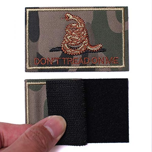 J.CARP Airsoft Morale Patch 3 2 Pieces Don't Tread on Me Tactical Patch Military Morale Patch Ruins of The Green