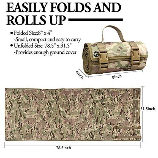 N  A Tactical Pouch 5 N  A Shooting Mat, Shooting Mat for Range, Shooting Gear Tactical Training Shooting Pad Rool-Up Shooters Mat Non-Slip Durable Shooting Rest
