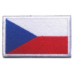 Tactical Embroidery Patch Airsoft Morale Patch 1 Czechoslovakia Flag Embroidery Patch Military Tactical Morale Patch Badges Emblem Applique Hook Patches for Clothes Backpack Accessories
