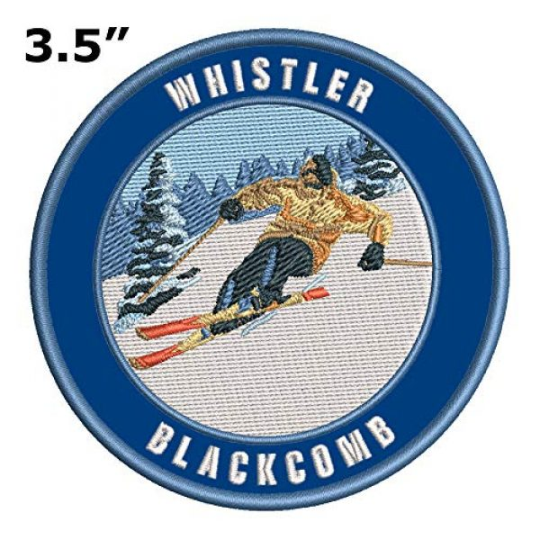 Appalachian Spirit Airsoft Morale Patch 2 Whistler Blackcomb, British Columbia Ski Restort Mountain Embroidered Premium Patch DIY Iron-on or Sew-on Decorative Badge Emblem Vacation Souvenir Travel Gear Clothes Appliques