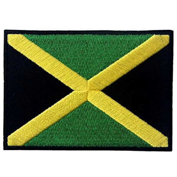 EmbTao Airsoft Morale Patch 1 Jamaica Flag Embroidered Emblem Rasta Jamaican Rastafarian National Iron On Sew On Patch