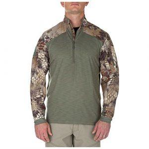 5.11 Tactical Shirt 1 5.11 Men's Rapid Half Zip Sweatshirt, Medium, Sage Green