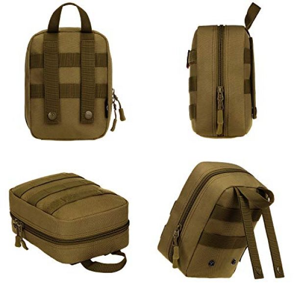 ArcEnCiel Tactical Pouch 2 ArcEnCiel EMT Molle Pouch Tactical Military IFAK Medical First Aid Kit Utility Bag
