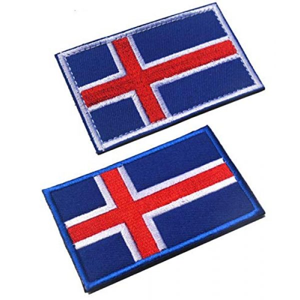 Tactical Embroidery Patch Airsoft Morale Patch 1 2pcs Iceland Flag Embroidery Patch Military Tactical Morale Patch Badges Emblem Applique Hook Patches for Clothes Backpack Accessories