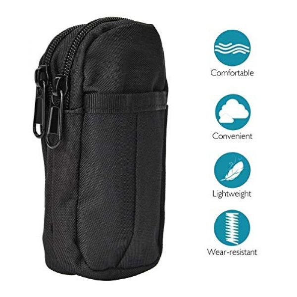 Boquite Tactical Pouch 4 Boquite Valentine's Day Carnival Gadget Pouch,Outdoor Accessory Bag Waterproof Mobile Phone Sports Waist Bag(Black)