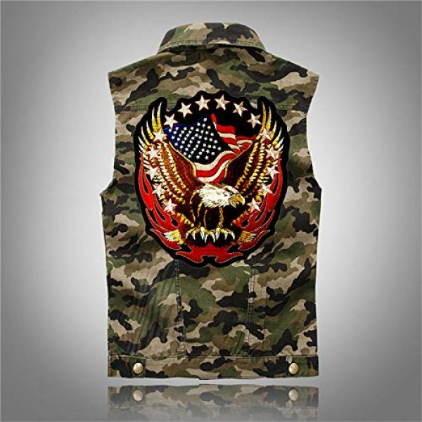 """TOOBIT Airsoft Morale Patch 3 Bald Eagle Patch Motorcycle Patch-7.7""""Patriotic USA Flag Eagle Jacket Embroidered Patch Iron On Patch Applique Clothes Jeans Sewing Flowers Applique"""
