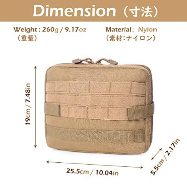 TRIWONDER Tactical Pouch 2 TRIWONDER Tactical Admin Molle Pouch Compact Utility Gadget Gear Tool Bag EDC Pouch Military EMT Organizer