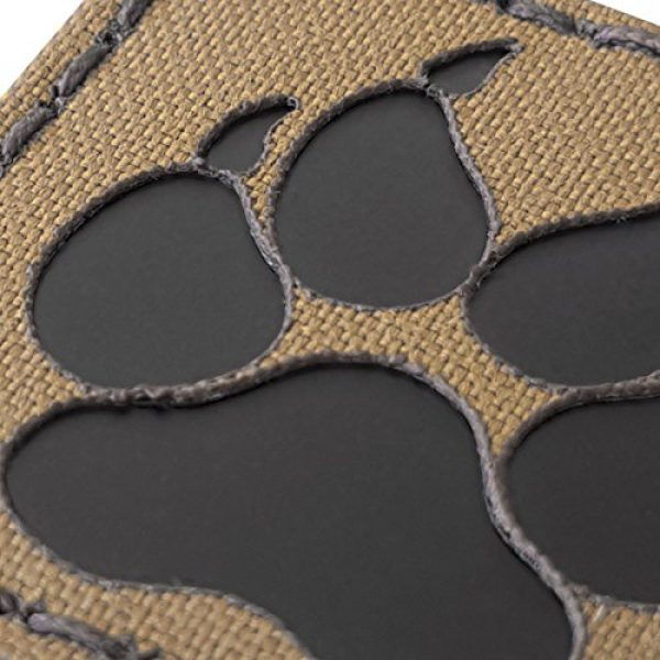 Tactical Freaky Airsoft Morale Patch 6 Coyote Brown Tan Infrared IR K9 Dog Handler Paw K-9 2x2 Tactical Morale Touch Fastener Patch